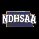 NDHSAA Track Wrestling logo